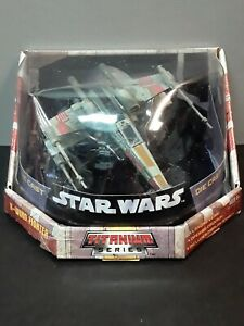 Hasbro Star Wars X-Wing Fighter Titanium series Die-cast 2005 New in Box