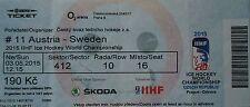 Online TICKET Eishockey WM 3.5.2015 Österreich - Schweden in Prag