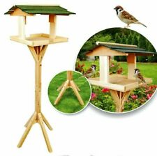 Parkland Traditional Wooden Bird Table Feeder Feeding Station Standing