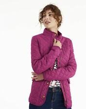 Joules Womens Pink Newdale Quilted Berry Jacket Size 12
