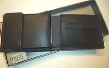 Buxton Mountain Convertible Leather Billfold Wallet ,Black
