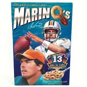 Dan Marino Cereal Box Marino's Honey Nut Toasted Oats Hall of Fame Box 2005