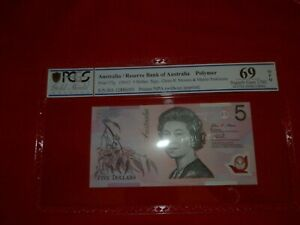 RARE. Australia 2012 $5  PCGS  near PERFECT 69.