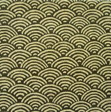 Seigaiha VERDE MUSCHIO giapponese tessuto di cotone per metro metà 50cm cf106