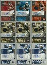 2018 Panini Absolute Football 9 Card Lot Rookie Force Auto Jersey RC