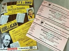 More details for stan cullis testimonial programme  & two tickets - wolves player & manager