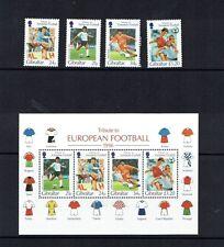 Gibraltar 1996 European Football Championship, MNH set + miniature sheet