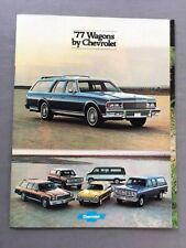 1977 Chevrolet Station Wagon Sales Brochure Catalog - Caprice Impala Malibu Vega
