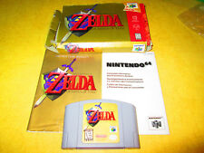 NINTENDO 64  N64 GAME  THE LEGEND OF ZELDA   COMPLETE WITH BOX AND BOOK