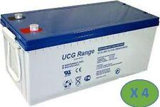 4 Batterie ULTRACELL - 12V /100 Ah - Deep Cycle GEL a lunga durata