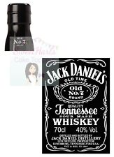 JACK DANIELS BOTTLE LABEL EDIBLE PRINTED ICING CAKE DECORATION