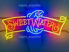 "New Sweet Water Fish Fishing Neon Sign 24"" Business Shop Open Light Lamp Decor"