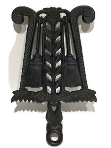 Vintage Cast Iron Trivet Heart and Brooms Design - Jamestown, Va.