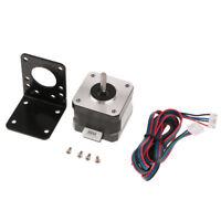 Nema17 Stepper Motor 4400g.cm 1.68A for CNC Router/3D Printer+with Bracket