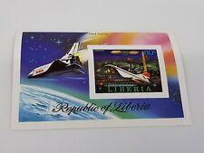 Liberia 800 Mint NH Souvenir Sheet Space Shuttle & Concorde