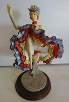 Vintage Porcelain Figurine Dancing Saloon Girl Old West Woman 1987 Arnart Import