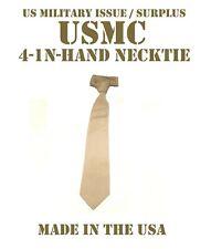USMC US MILITARY 4-IN-HAND MEN'S NECKTIE TIE DRESS KHAKI SERVICE DRESS UNIFORM