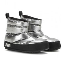 MARC By MARC JACOBS Macdougal Ankle Boots Booties 40 9.5 Quilted Puffer Silver