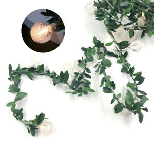 Fairy Lights String LED Ivy Green Leaf Ball Garland Wedding XMAS Party Decor