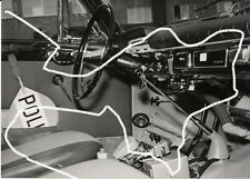 18x13 Orig. Vintage Press Photo 1960 Police Volvo Amazon Interior Photo