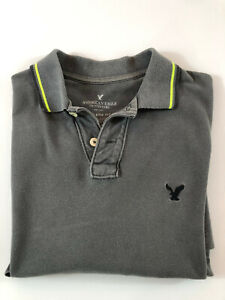 American Eagle Outfitter Mens Short Sleeve Polo Top Small Athletic Fit Free Post