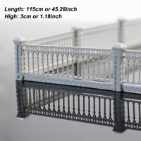 1 Meter Model Railway White Building Fence Wall 1:87 HO OO Scale LG10001