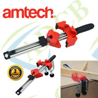 Amtech Corner Angle Clamp 122mm Adjustable 30mm Jaw Carpentry Wood