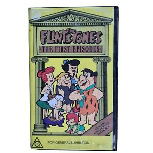 Vintage The Flintstones The First Episodes Hanna-Barbera Very Rare VHS Video