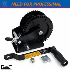 2000 LBS TAIWAN PROFESSIONAL MADE HAND WINCH CERTIFIED COMPACT DOUBLE GEAR 10016