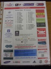 04/12/2012 Swindon Town Youth v Liverpool Youth [FA Youth Cup] (single sheet). T