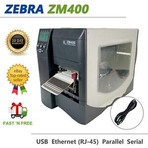 Zebra ZM400 Direct Thermal Label Printer USB LAN Peel Rewind ZM42Z-2001-4100D