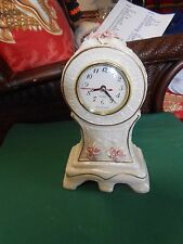 "Great Ivory Color Pink Rose Quartz TABLE TOP ""Clock"""