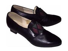 Simona Fashion Damen Schuhe  schwarz  Leder  Gr.7  41                 (8433-1)