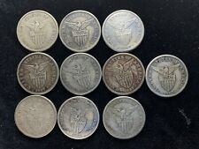 1907s US-Philippines 1 Peso Silver Coins (10 pcs)- lot #11