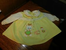 Just Like Mom Baby Yellow Dress Vintage Philippines Bear Applique Catton Candy
