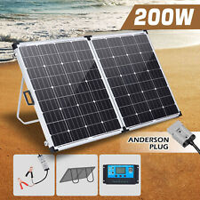 200w Solar Panel Folding Kit 12v Battery Charger Power Mono Boat Camping