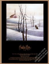 1988 P. Buckley Moss Skater's Eve ice skating couple art vintage print ad