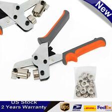 Pro Metal Manual Grommet Machine 500 Grommets Eyelet Hand Press Tool Banner New
