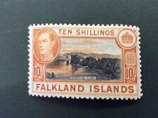 Falkland Islands George Vl 10/- Definitive M/Mint SG 162 Cat. Value £200 In 2016