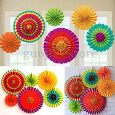 6 Pcs Fiesta Hanging Fan Tissue Paper Home Birthday Wedding Party Decoration