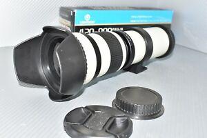 Canon EOS DIGITAL fit 420 800mm zoom lens 1100D 1200D 1300D 2000D 4000D REBEL ++