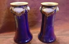 Two Art Nouveau Royal Doulton Stoneware Vases - 17.5 cm Tall - Superb Condition