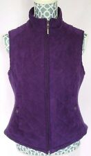 Croft & Barrow Purple Quilted Zip Front Vest Womens Size S