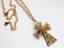 Markenlose Echtschmuck-Halsketten & -Anhänger mit Perlen-Kreuz-Motiv