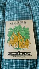 15 Vintage 1910 Card Seed Co. Wax Beans Vegetable Seed Packets Fredonia NY
