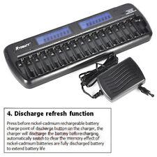 Smart 16 slots LCD Rechargeable Battery Charger for Ni-MH Ni-Cd AA AAA Bay Bank