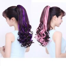 Ponytail Straight&Curly Wave Synthetic Hair Extension Claw Clip String Hairpiece