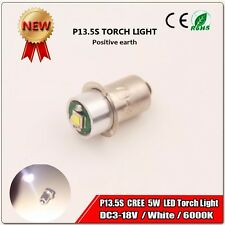 1pcs P13.5S PR3 PR4 TORCH BULB LONGER BATTERY LIFE  5W DC 3V -18V LED CREE CHIP