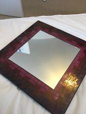 mirror mosaic tiles Pink Purple Square  Pretty Mirror Home Decor