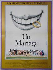 Affiche 40x60cm UN MARIAGE /A WEDDING 1978 Robert Altman, Vittorio Gassman TBE